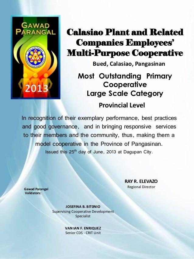 Gawad Parangal 2013 Certificates  CDA Dagupan Extension Office Slide 2