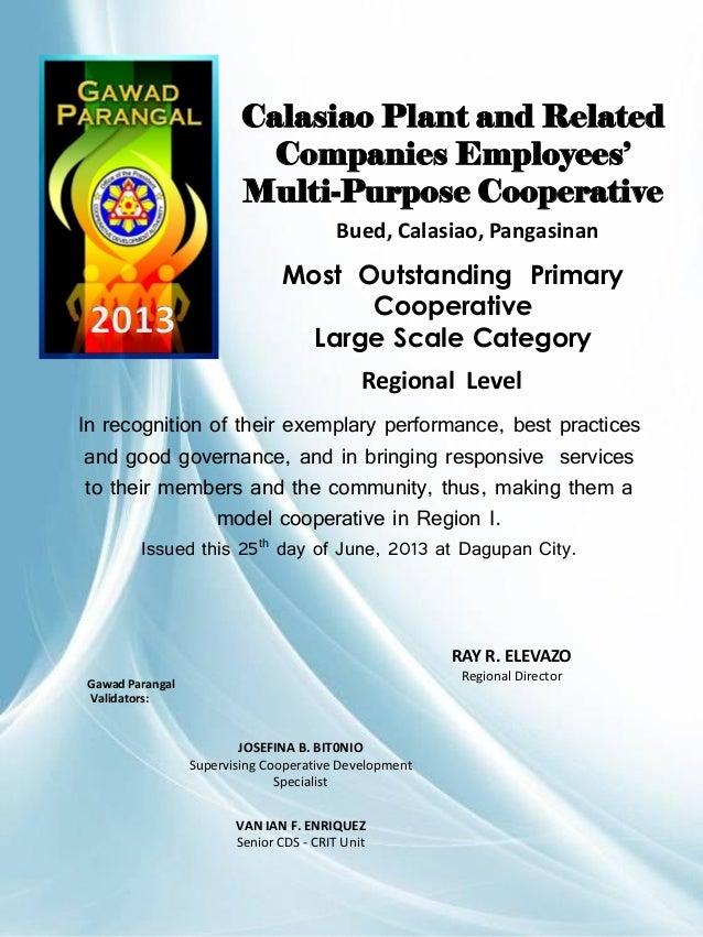 Gawad Parangal 2013 Certificates  CDA Dagupan Extension Office Slide 3