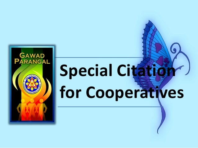 Special Citation for Cooperatives