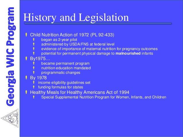 Understanding the federal program or the wic program