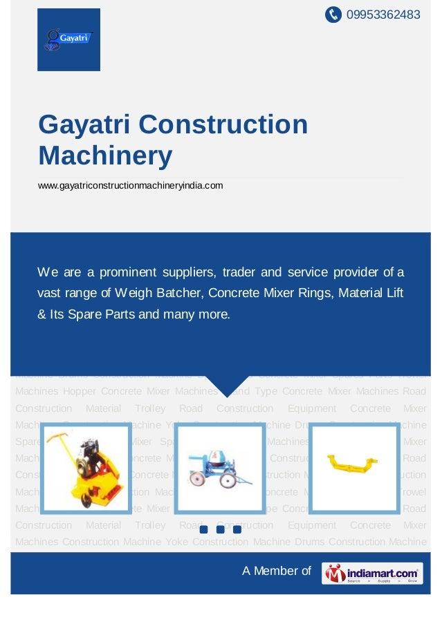 Gayatri Construction Machinery Ahmedabad Concrete Mixer Machine Spa