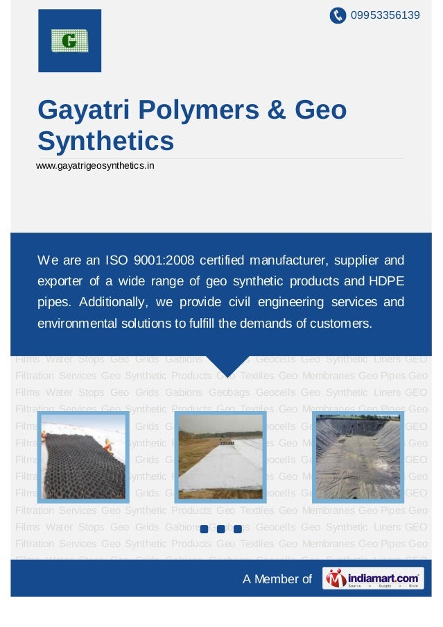 09953356139    Gayatri Polymers & Geo    Synthetics    www.gayatrigeosynthetics.inGeo Synthetic Products Geo Textiles Geo ...
