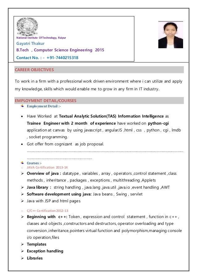 gayatri resume