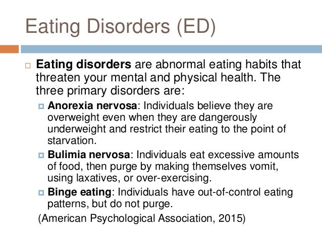 male eating disorders Expertise in the treatment of eating disorders and body image concerns in both  males and females in berkeley, ca.