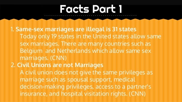 Homosexual marriage facts spouse