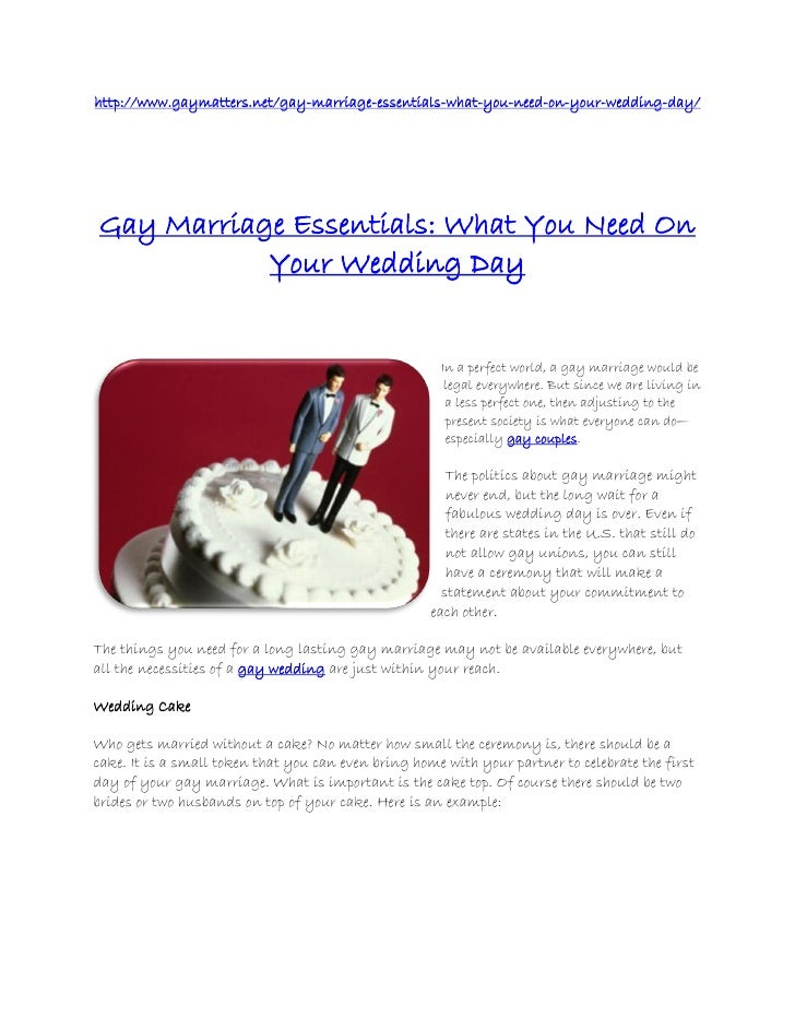 http://www.gaymatters.net/gay-marriage-essentials-what-you-need-on-your-wedding-day/Gay Marriage Essentials: What You Need...