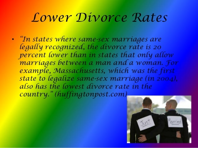 gay marriage vs straight marriage divorce statistics