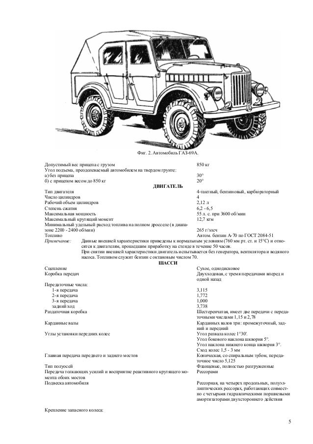 GAZ69 Technical Maintenance Manual Russian
