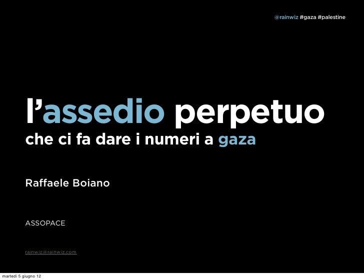@rainwiz #gaza #palestine           l'assedio perpetuo           che ci fa dare i numeri a gaza           Raffaele Boiano  ...
