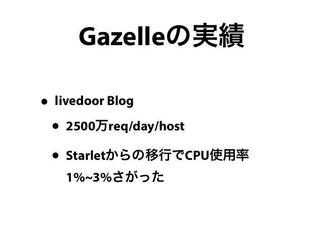 Gazelle - Plack Handler for performance freaks #yokohamapm