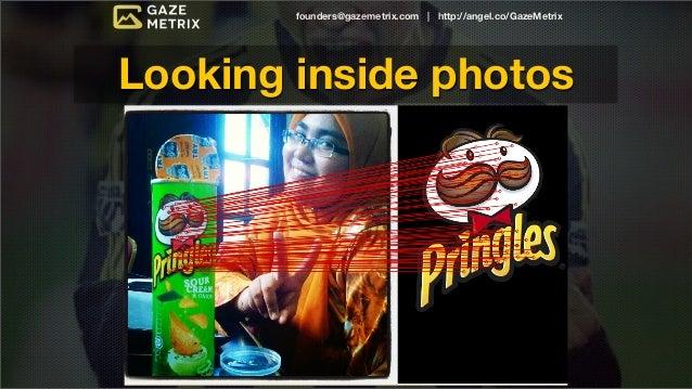 founders@gazemetrix.com | http://angel.co/GazeMetrixLooking inside photosmillions of photos every day