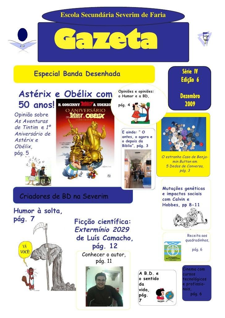Escola Secundária Severim de Faria                     Gazeta            Especial Banda Desenhada                         ...