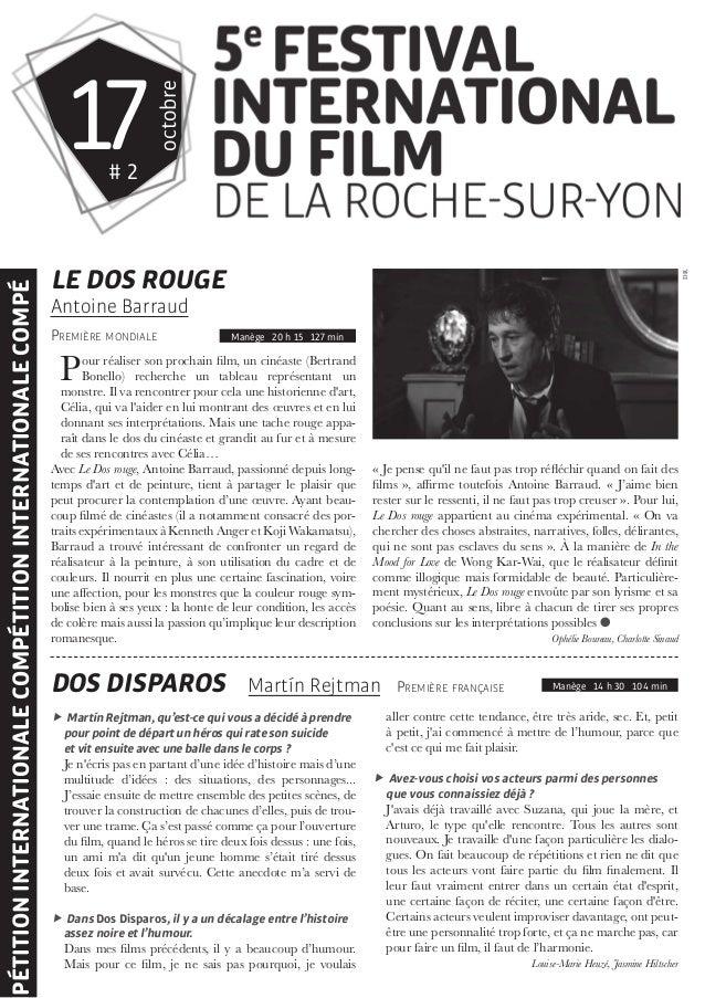 gazette 2 du festival international du film de la roche sur yon. Black Bedroom Furniture Sets. Home Design Ideas