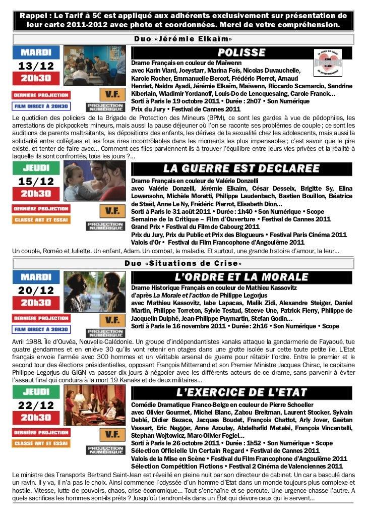 Gazette du 13 décembre 2011 au 26 janvier 2012 Slide 2