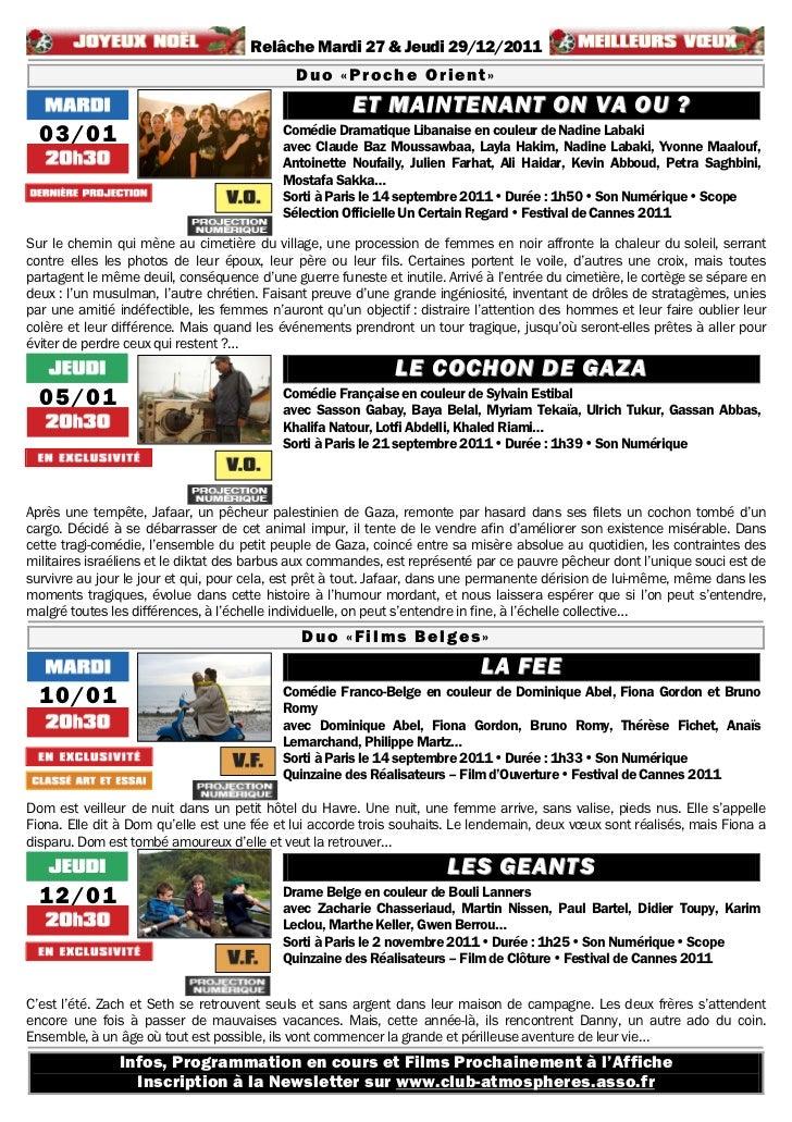 Gazette du 13 décembre 2011 au 26 janvier 2012 Slide 3
