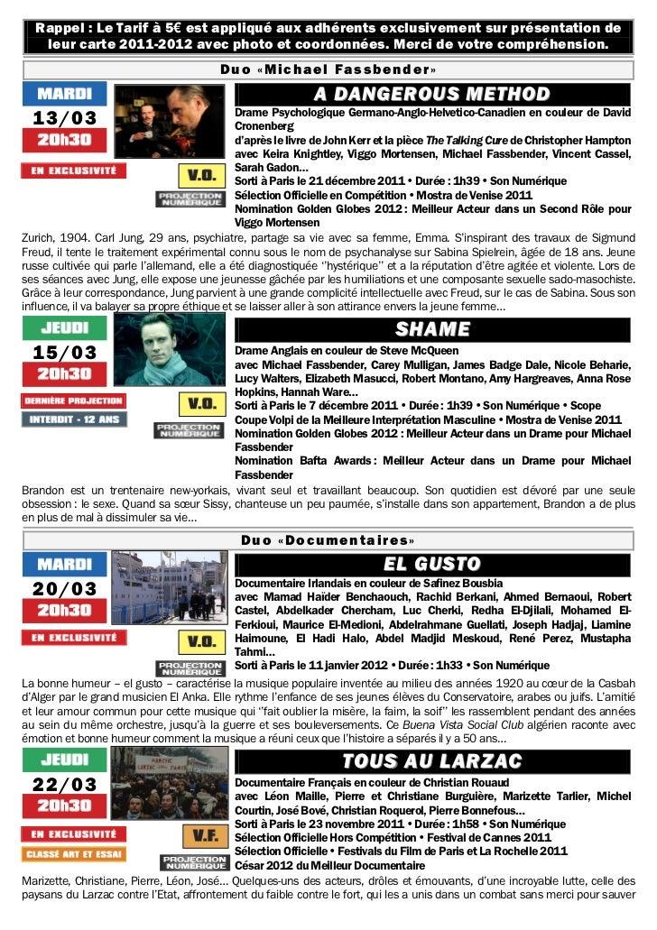 Gazette du 13 mars au 24 avril 2012 Slide 2
