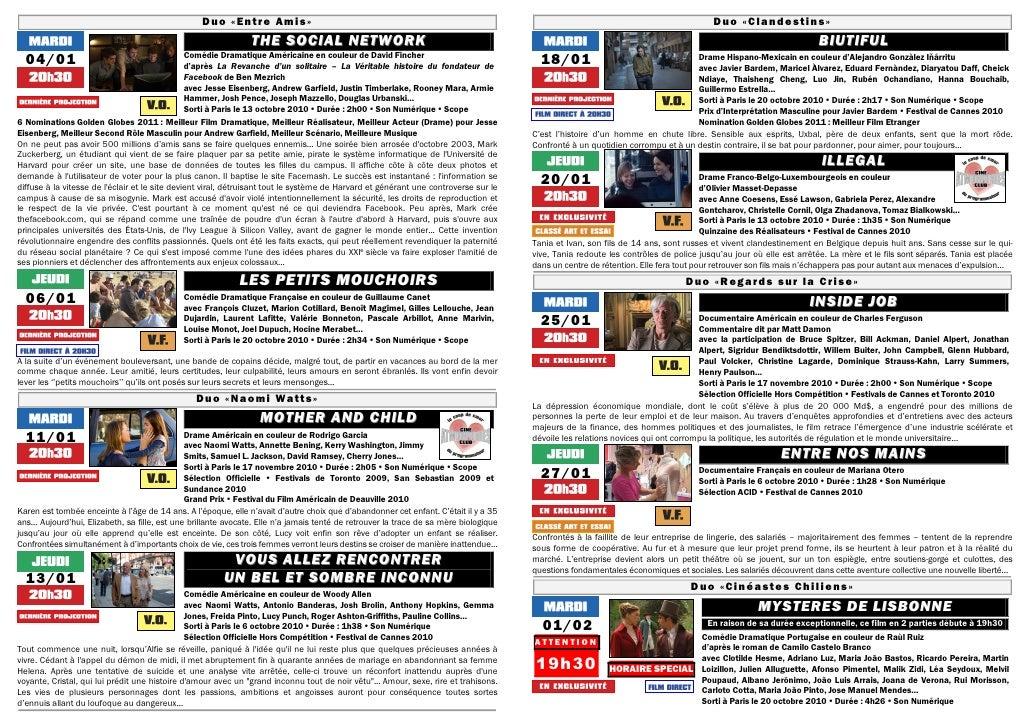 Gazette du 4 janvier au 10 fevrier 2011