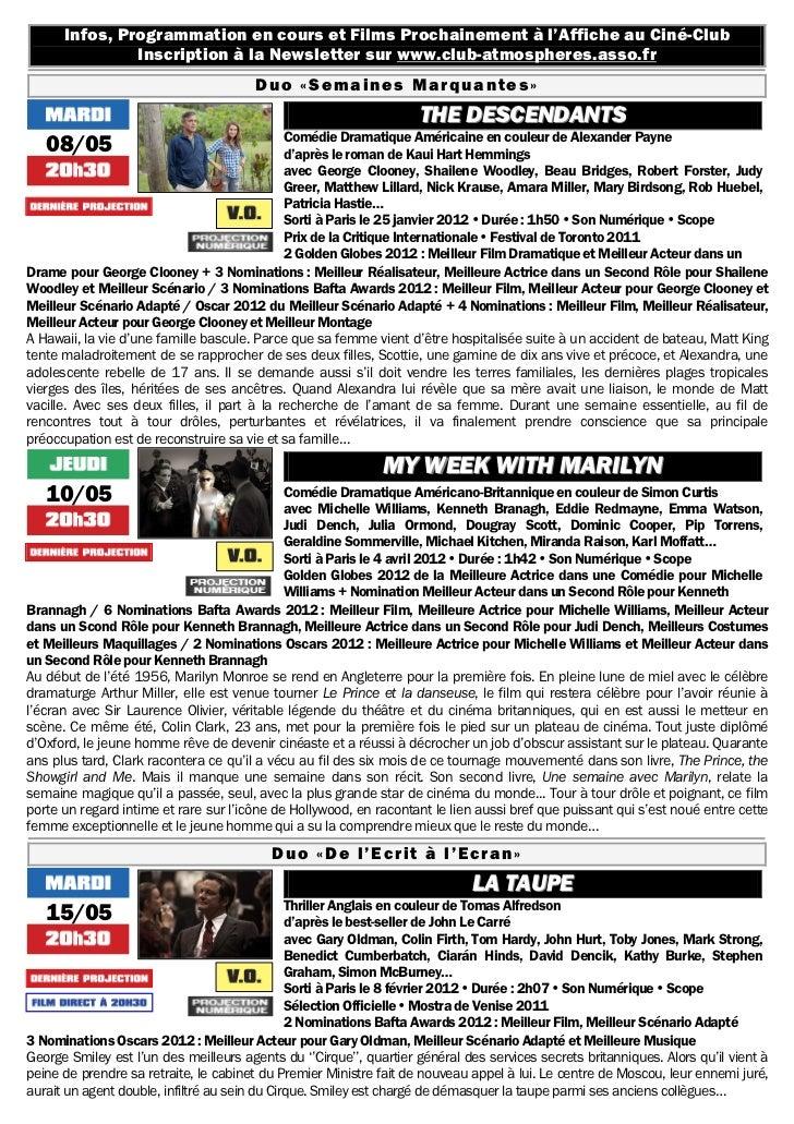 Gazette du 8 mai au 14 juin 2012 Slide 2