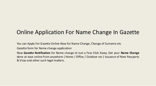 Name Change Form | Apply Online For Name Change In Nagpur Gazette View Gazette Consult