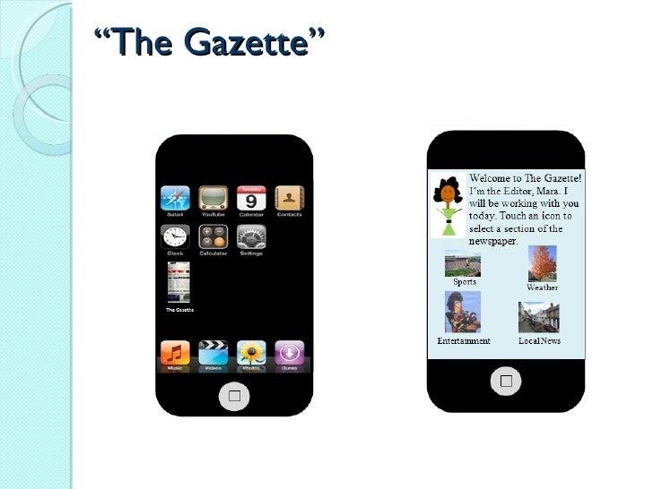 """"""" The Gazette"""""""