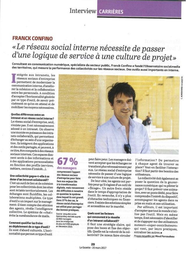 La Gazette des Communes - Itw réseau social interne