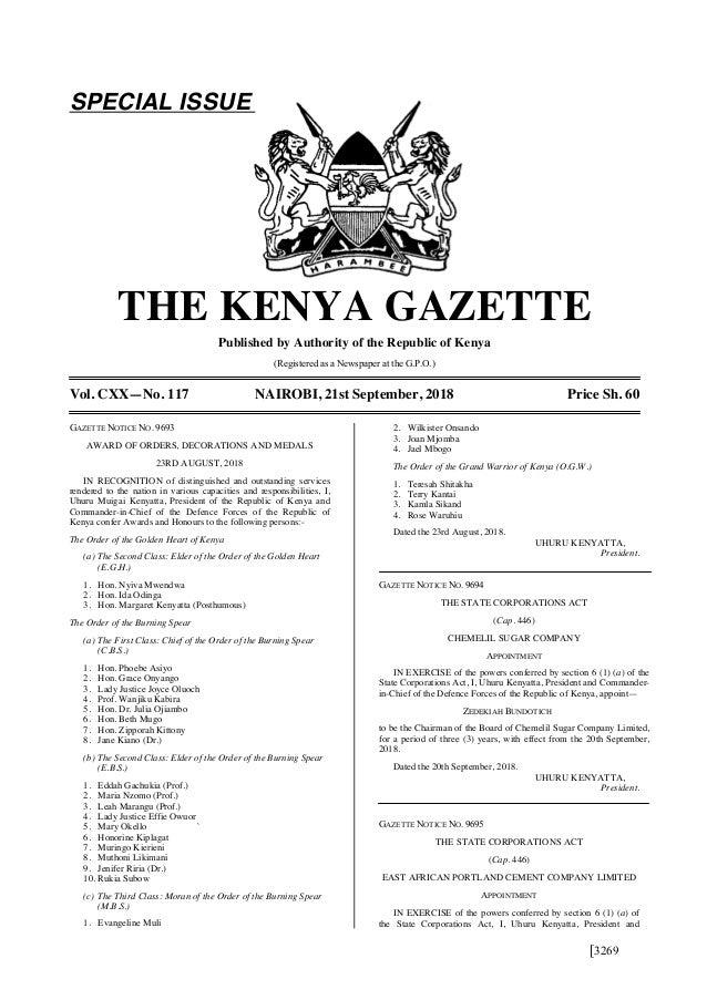 Gazette Vol  117 21 9-18 Special (Awards)