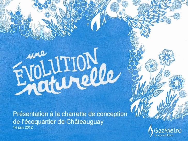 Présentation à la charrette de conceptionde l'écoquartier de Châteauguay14 juin 2012
