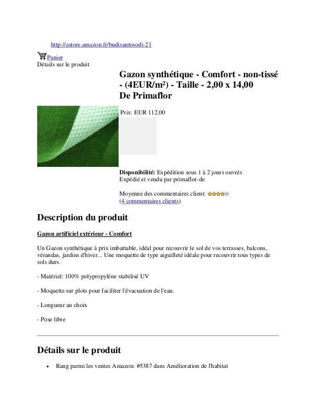 http://astore.amazon.fr/budisantosodi-21PanierDétails sur le produitGazon synthétique - Comfort - non-tissé- (4EUR/m²) - T...