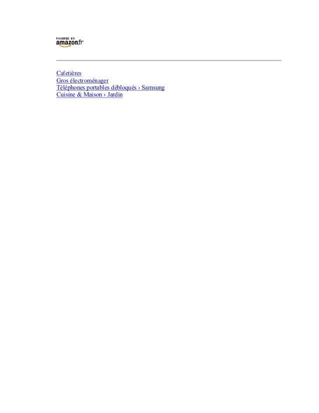 CafetièresGros électroménagerTéléphones portables débloqués › SamsungCuisine & Maison › Jardin