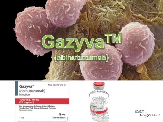 DESCRIPTION • GAZYVA (obinutuzumab) is a humanized anti-CD20 monoclonal antibody of the IgG1 subclass. It recognizes a spe...