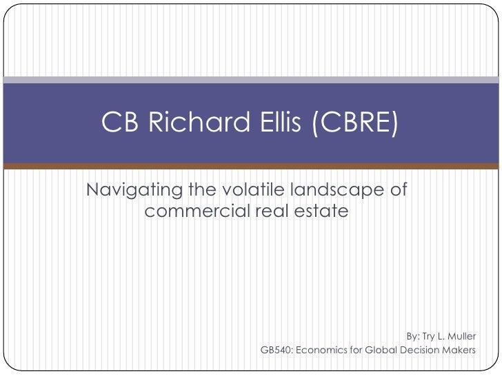 Navigating the volatile landscape of commercial real estate<br />CB Richard Ellis (CBRE)<br />By: Try L. Muller<br />GB540...