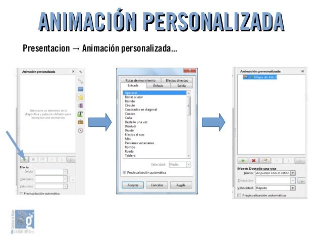 ANIMACIÓN PERSONALIZADAANIMACIÓN PERSONALIZADA Presentacion Animación personalizada...→
