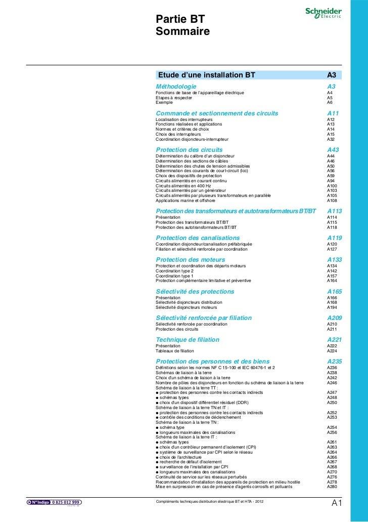 Partie BTSommaire Etude d'une installation BT                                                   A3Méthodologie            ...