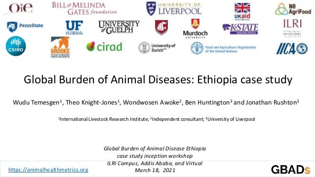Global Burden of Animal Disease Ethiopia case study inception workshop ILRI Campus, Addis Ababa, and Virtual March 18, 202...