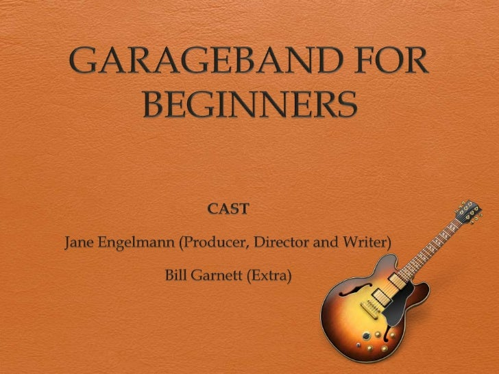 • know how to use the basic functions of the GarageBand program• create an original, multi track composition using GarageB...