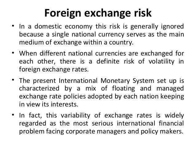 study on the variability in foreign exchange rate Comparative study: factors that affect foreign currency reserves in china and india account balance and exchange rate regimes in his study frenkel (1978), on the other hand the variability of international payments and receipts, the propensity to.