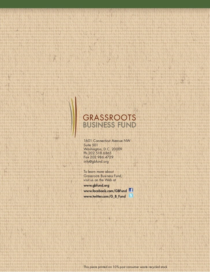 Grassroots Business Fund annual report 2010