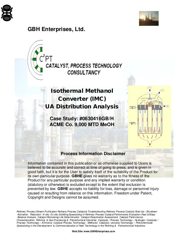 An analysis of methanol for our future