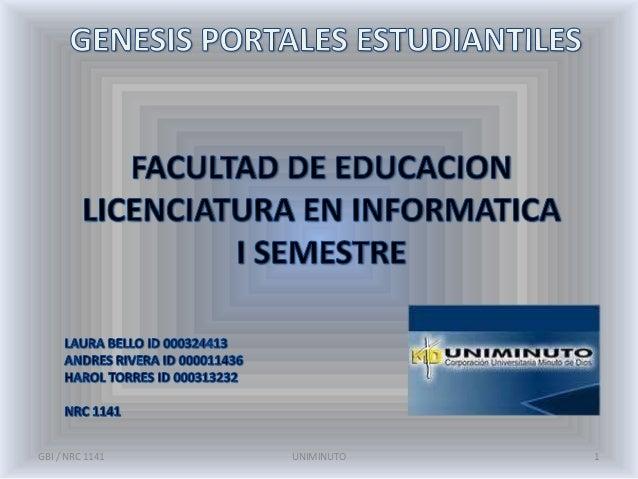 GBI / NRC 1141   UNIMINUTO   1
