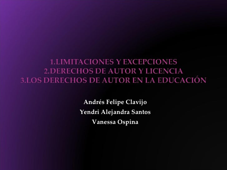 Andrés Felipe Clavijo Yendri Alejandra Santos Vanessa Ospina