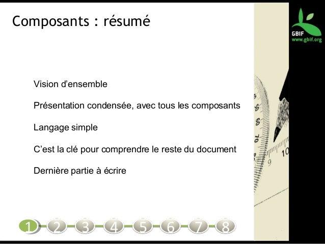 Composants : résumé Vision d'ensemble Présentation condensée, avec tous les composants Langage simple C'est la clé pour co...