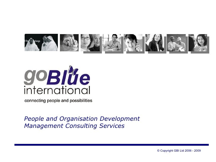 People and Organisation Development  Management Consulting Services