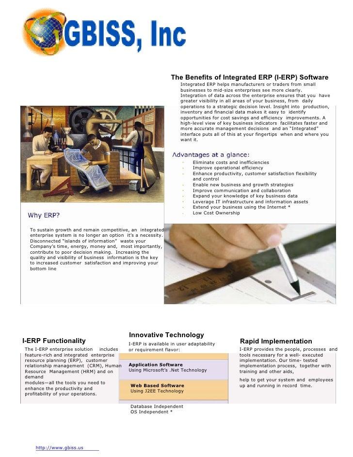 The Benefits of Integrated ERP (I-ERP) Software                                                                    Integra...