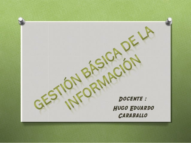 Docente :Hugo Eduardo Caraballo