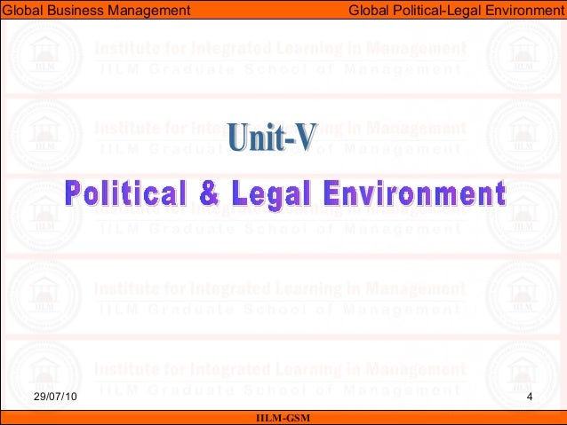 comparing the political environmental and legal environments Environment, and time steeple: social, technological, environment,  economic, political, legal, and ethical tradoc: us army training and doctrine .