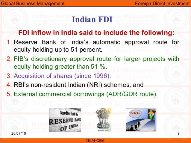 fdi in india introduction Chapter 1 introduction over the past two decades, many countries around the world have experienced substantial growth in their economies, with even faster growth in international transactions, especially in the form of foreign direct investment (fdi.