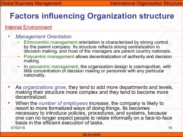 Factors Affecting Organizational Design
