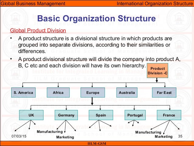 Essay on international business structure and strategy