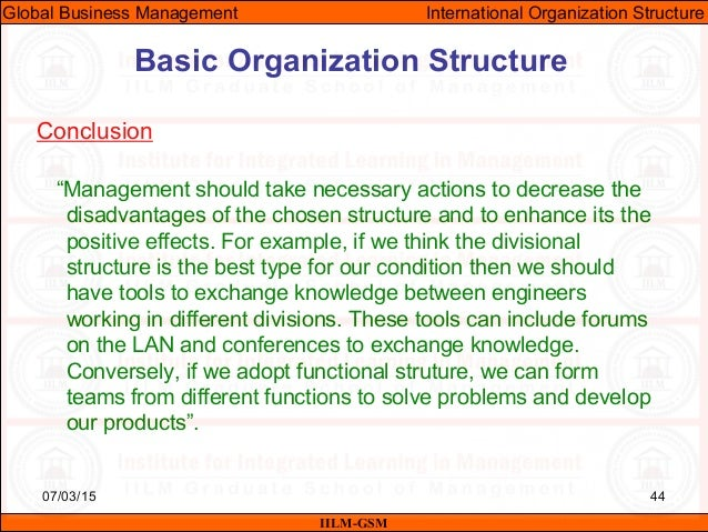 Gbm Unit-08 (Organizational Structure In International Business)