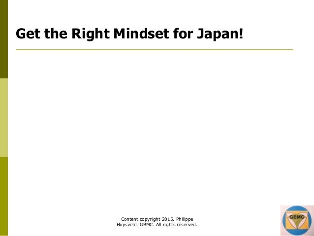 GBMC Presentation - Le Bourget symposium - Japan Business Training - June 2015 (table of contents) Slide 2